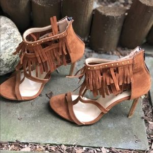 Shoes - Brand New Suede High Heel Sandals From Europe